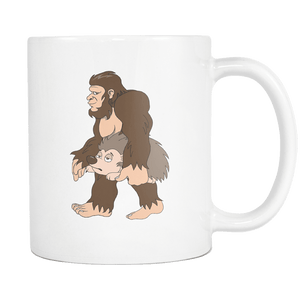 RobustCreative-Bigfoot Sasquatch Carrying Hedgehog - I Believe I'm a Believer - No Yeti Humanoid Monster - 11oz White Funny Coffee Mug Women Men Friends Gift ~ Both Sides Printed