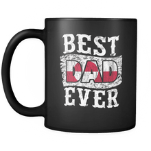 Load image into Gallery viewer, RobustCreative-Best Dad Ever Greenland Flag - Fathers Day Gifts - Family Gift Gift From Kids - 11oz Black Funny Coffee Mug Women Men Friends Gift ~ Both Sides Printed
