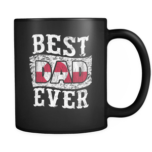RobustCreative-Best Dad Ever Greenland Flag - Fathers Day Gifts - Family Gift Gift From Kids - 11oz Black Funny Coffee Mug Women Men Friends Gift ~ Both Sides Printed
