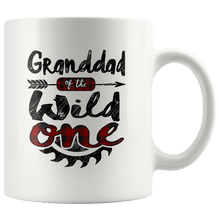 Load image into Gallery viewer, RobustCreative-Granddad of the Wild One Lumberjack Woodworker Sawdust - 11oz White Mug measure once plaid pajamas Gift Idea