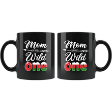 Load image into Gallery viewer, RobustCreative-Omani Mom of the Wild One Birthday Oman Flag Black 11oz Mug Gift Idea