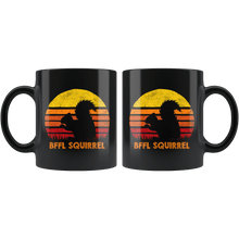 Load image into Gallery viewer, RobustCreative-Best Friends For Life Squirrel BFFL Retro Sunset Silhouette Vintage Safari Black 11oz Mug Gift Idea