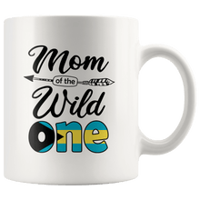 Load image into Gallery viewer, RobustCreative-Bahamian Mom of the Wild One Birthday Bahamas Flag White 11oz Mug Gift Idea