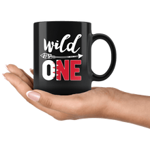 Load image into Gallery viewer, RobustCreative-Bahrain Wild One Birthday Outfit 1 Bahrani Flag Black 11oz Mug Gift Idea