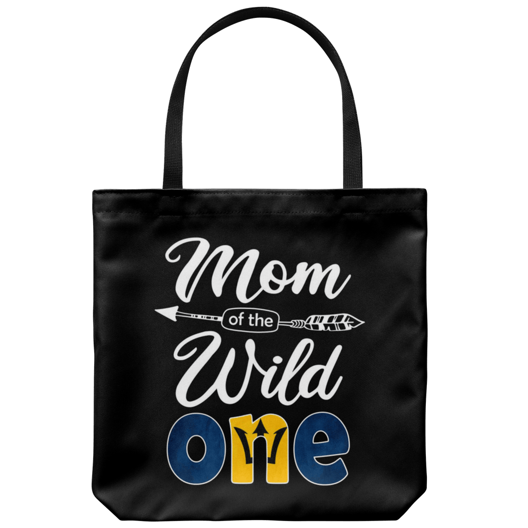 RobustCreative-Bajan Barbadian Mom of the Wild One Birthday Barbados Flag Tote Bag Gift Idea