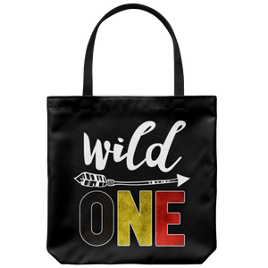 RobustCreative-Belgium Wild One Birthday Outfit 1 Belgian Flag Tote Bag Gift Idea