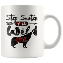 Load image into Gallery viewer, RobustCreative-Strong Step Sister of the Wild One Wolf 1st Birthday - 11oz White Mug plaid pajamas Gift Idea