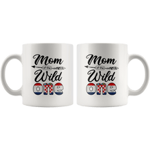 Load image into Gallery viewer, RobustCreative-Croatian Mom of the Wild One Birthday Croatia Flag White 11oz Mug Gift Idea