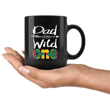 Load image into Gallery viewer, RobustCreative-Grenadian Dad of the Wild One Birthday Grenada Flag Black 11oz Mug Gift Idea