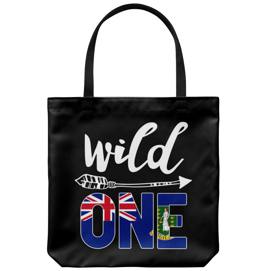 RobustCreative-British Virgin Islands Wild One Birthday Outfit Virgin Islander Flag Tote Bag Gift Idea