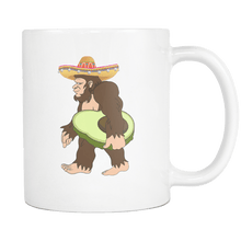 Load image into Gallery viewer, RobustCreative-Bigfoot Sasquatch Avocado - Cinco De Mayo Mexican Fiesta - No Siesta Mexico Party - 11oz White Funny Coffee Mug Women Men Friends Gift ~ Both Sides Printed