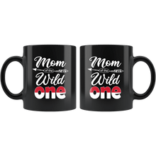 Load image into Gallery viewer, RobustCreative-Indonesian Mom of the Wild One Birthday Indonesia Flag Black 11oz Mug Gift Idea