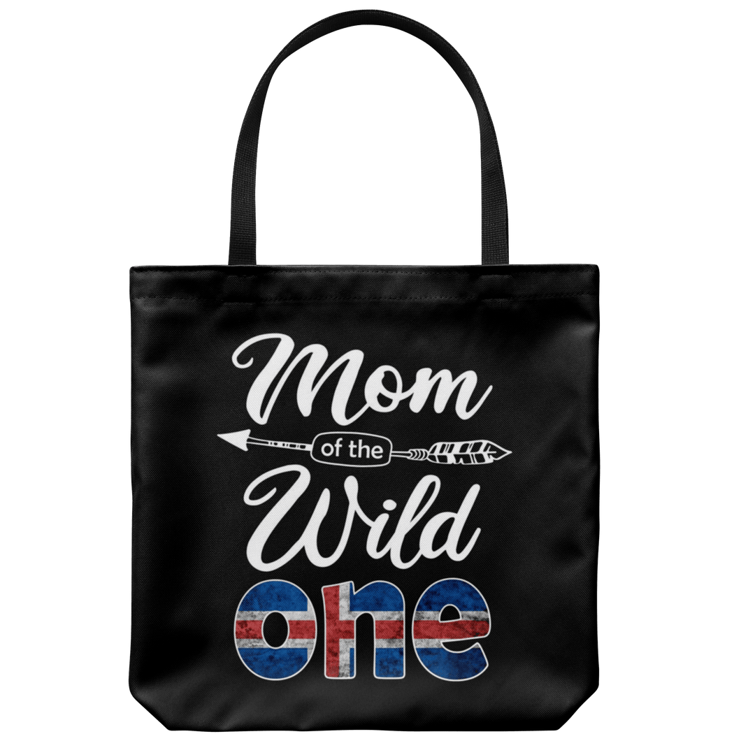 RobustCreative-Icelander Mom of the Wild One Birthday Iceland Flag Tote Bag Gift Idea