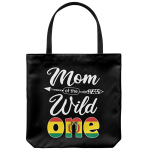RobustCreative-Bolivian Mom of the Wild One Birthday Bolivia Flag Tote Bag Gift Idea