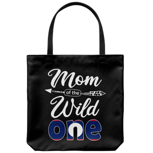 RobustCreative-Lao Mom of the Wild One Birthday Laos Flag Tote Bag Gift Idea