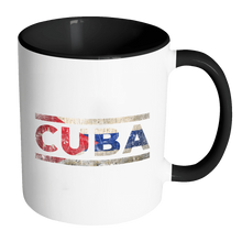 Load image into Gallery viewer, RobustCreative-Retro Vintage Flag Cuban Cuba 11oz Black & White Coffee Mug ~ Both Sides Printed