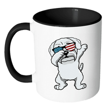 Load image into Gallery viewer, RobustCreative-Dabbing Maltipoo Dog America Flag - Patriotic Merica Murica Pride - 4th of July USA Independence Day - 11oz Black & White Funny Coffee Mug Women Men Friends Gift ~ Both Sides Printed