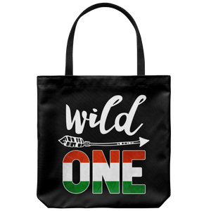 RobustCreative-Hungary Wild One Birthday Outfit 1 Hungarian Flag Tote Bag Gift Idea