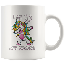 Load image into Gallery viewer, RobustCreative-I am 50 & Magical Unicorn birthday fifty Years Old White 11oz Mug Gift Idea