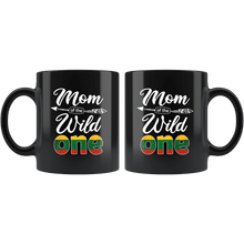 Load image into Gallery viewer, RobustCreative-Lithuanian Mom of the Wild One Birthday Lithuania Flag Black 11oz Mug Gift Idea