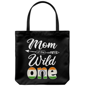 RobustCreative Indian Mom Of The Wild One Birthday India Flag Tote Bag Gift Idea