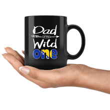 Load image into Gallery viewer, RobustCreative-Bosnian Herzegovinian Dad of the Wild One Birthday Bosnia & Herzegovina Flag Black 11oz Mug Gift Idea