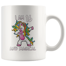 Load image into Gallery viewer, RobustCreative-I am 16 & Magical Unicorn birthday sixteen Years Old White 11oz Mug Gift Idea