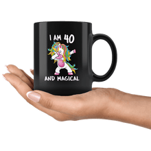 Load image into Gallery viewer, RobustCreative-I am 40 & Magical Unicorn birthday fourty Years Old Black 11oz Mug Gift Idea