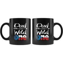 Load image into Gallery viewer, RobustCreative-Czech Dad of the Wild One Birthday Czech Republic Flag Black 11oz Mug Gift Idea