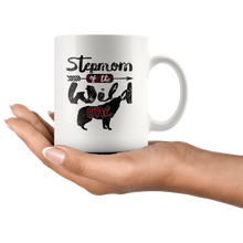 Load image into Gallery viewer, RobustCreative-Strong Stepmom of the Wild One Wolf 1st Birthday Wolves - 11oz White Mug wolves lover animal spirit Gift Idea