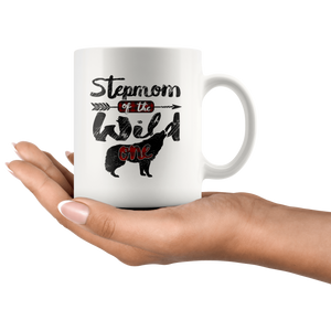RobustCreative-Strong Stepmom of the Wild One Wolf 1st Birthday Wolves - 11oz White Mug wolves lover animal spirit Gift Idea