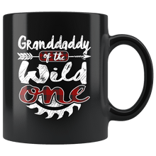 Load image into Gallery viewer, RobustCreative-Granddaddy of the Wild One Lumberjack Woodworker - 11oz Black Mug red black plaid Woodworking saw dust Gift Idea