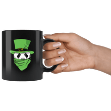 Load image into Gallery viewer, RobustCreative-Panda Leprechaun St Patricks Day Green Bandana Kids - 11oz Black Mug lucky paddys pattys day Gift Idea