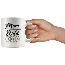 Load image into Gallery viewer, RobustCreative-Israeli Mom of the Wild One Birthday Israel Flag White 11oz Mug Gift Idea