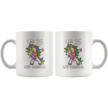 Load image into Gallery viewer, RobustCreative-I am 35 & Magical Unicorn birthday thirty five Years Old White 11oz Mug Gift Idea