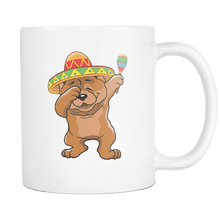 Load image into Gallery viewer, RobustCreative-Dabbing Chow Chow Dog in Sombrero - Cinco De Mayo Mexican Fiesta - Dab Dance Mexico Party - 11oz White Funny Coffee Mug Women Men Friends Gift ~ Both Sides Printed