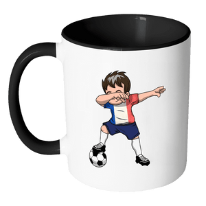 RobustCreative-Dabbing Soccer Boys France French Paris Gift National Soccer Tournament Game 11oz Black & White Coffee Mug ~ Both Sides Printed