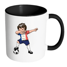 Load image into Gallery viewer, RobustCreative-Dabbing Soccer Boys France French Paris Gift National Soccer Tournament Game 11oz Black & White Coffee Mug ~ Both Sides Printed