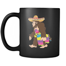 Load image into Gallery viewer, RobustCreative-Bigfoot Sasquatch Piniata - Cinco De Mayo Mexican Fiesta - No Siesta Mexico Party - 11oz Black Funny Coffee Mug Women Men Friends Gift ~ Both Sides Printed