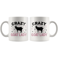 Load image into Gallery viewer, RobustCreative-Crazy Goat Lady Farming Girl Goats Lover Farm Gift  - 11oz White Mug country Farm urban farmer Gift Idea