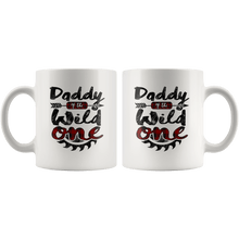 Load image into Gallery viewer, RobustCreative-Daddy of the Wild One Lumberjack Woodworker Sawdust - 11oz White Mug sawdust is mans glitter Gift Idea
