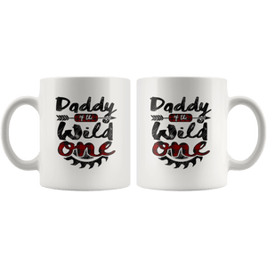 RobustCreative-Daddy of the Wild One Lumberjack Woodworker Sawdust - 11oz White Mug sawdust is mans glitter Gift Idea
