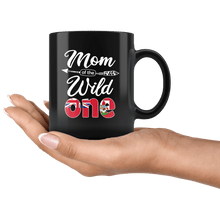 Load image into Gallery viewer, RobustCreative-Bermudian Mom of the Wild One Birthday Bermuda Flag Black 11oz Mug Gift Idea