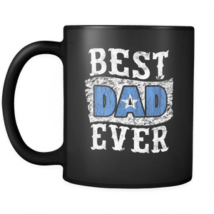 RobustCreative-Best Dad Ever Somalia Flag - Fathers Day Gifts - Promoted to Daddy Gift From Kids - 11oz Black Funny Coffee Mug Women Men Friends Gift ~ Both Sides Printed