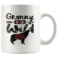 Load image into Gallery viewer, RobustCreative-Strong Granny of the Wild One Wolf 1st Birthday Wolves - 11oz White Mug plaid pajamas Gift Idea