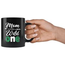 Load image into Gallery viewer, RobustCreative-Nigerian Mom of the Wild One Birthday Nigeria Flag Black 11oz Mug Gift Idea