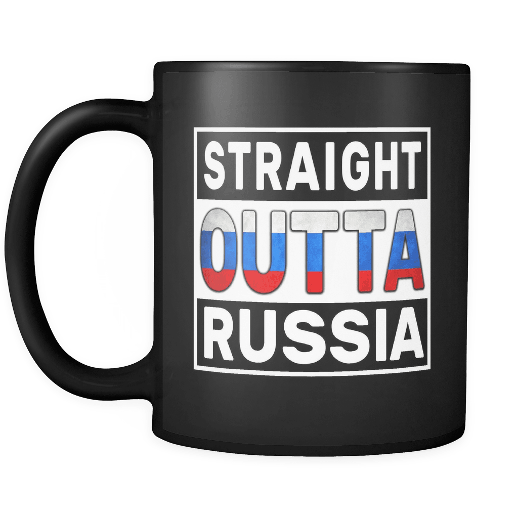 Mugs Glasses Independence Day Family Heritage Russian Flag 11oz Funny Black Coffee Mug Women Men Friends Gift Straight Outta Russia Both Sides Printed Distressed Sports Outdoors Hyundai Lighting Com Mk
