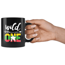 Load image into Gallery viewer, RobustCreative-Myanmar Wild One Birthday Outfit 1 Burmese Flag Black 11oz Mug Gift Idea