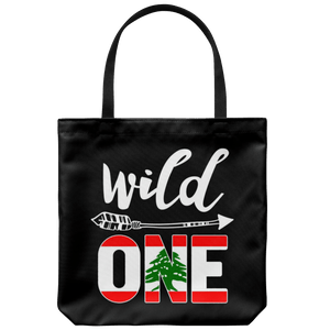 RobustCreative-Lebanon Wild One Birthday Outfit 1 Lebanese Flag Tote Bag Gift Idea