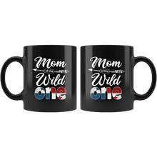 Load image into Gallery viewer, RobustCreative-Panamanian Mom of the Wild One Birthday Panama Flag Black 11oz Mug Gift Idea